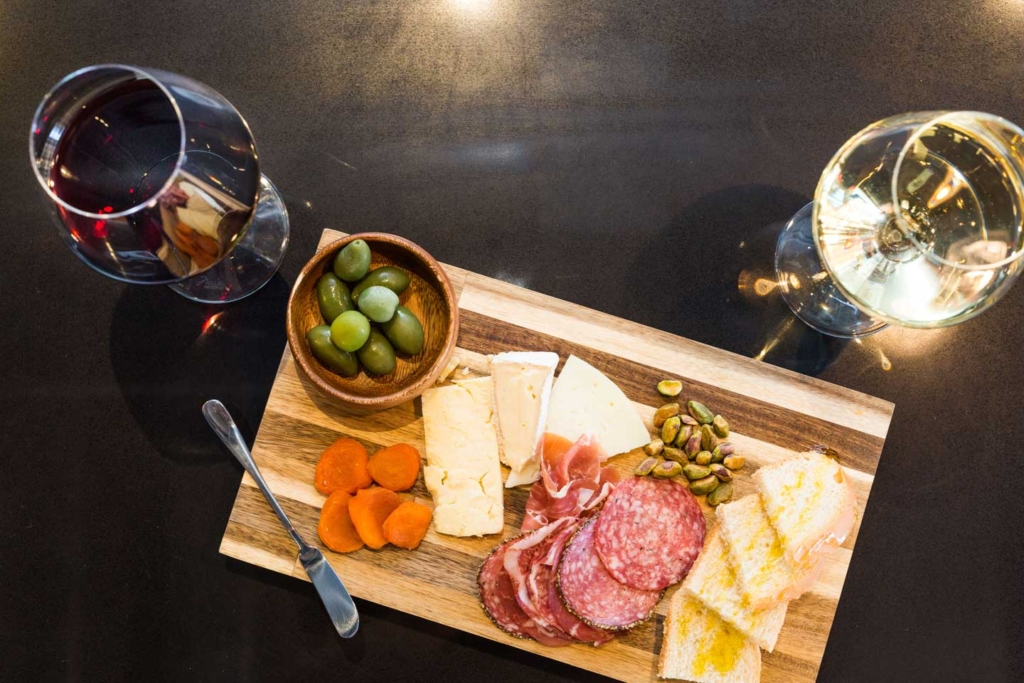 Charcuterie Board and wine at Rott n' Grapes