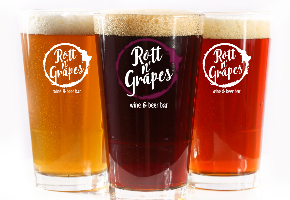 draft beers at Rott n' Grapes