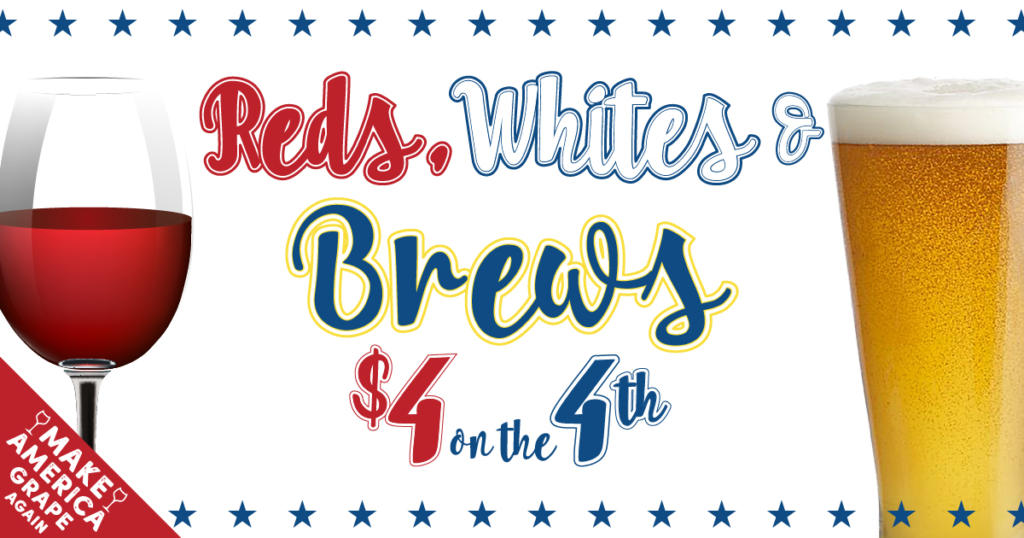 Reds, whites and brews on July 4