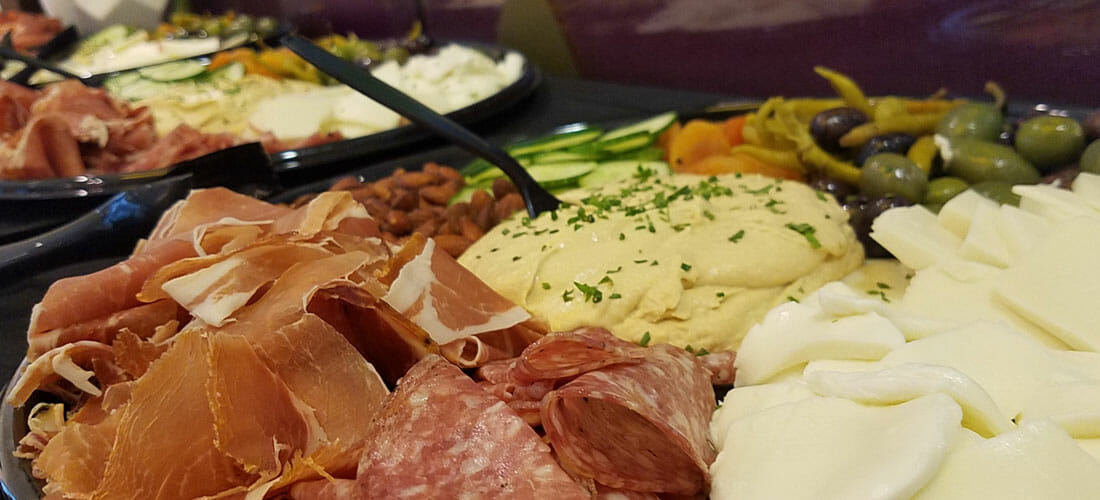 charcuterie platter from Rott n' Grapes
