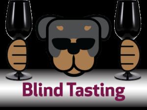 blind tasting of wines in Riedel black stemware