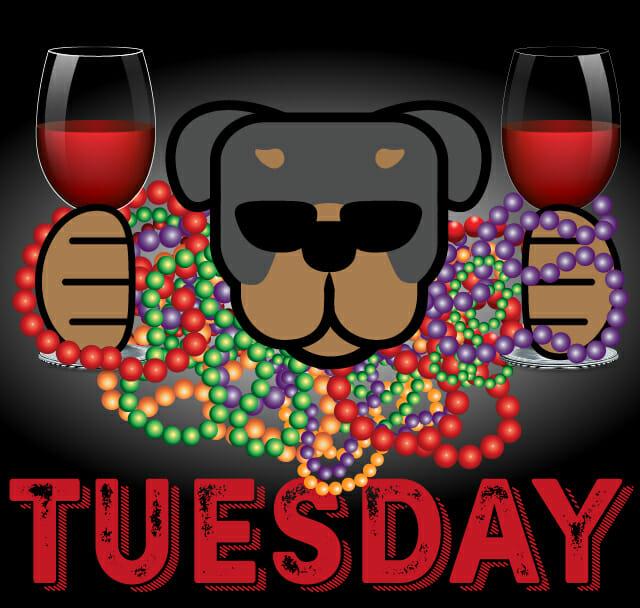 Mardi Gras inspired wine tasting at Rott n' Grapes Wine Bistro Tuesday