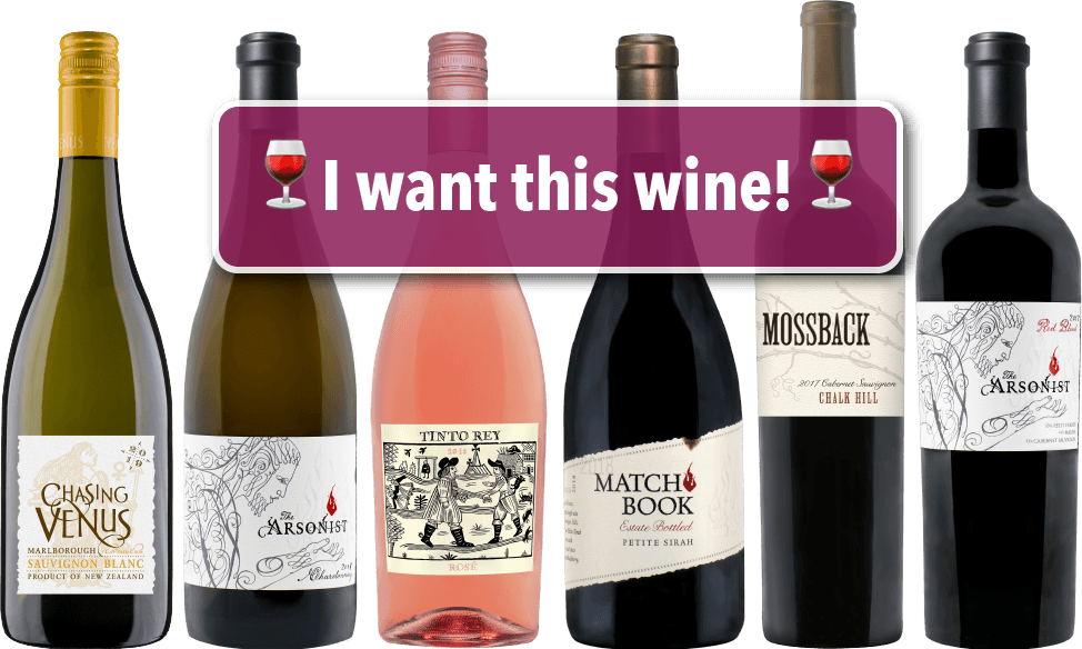 Matchbook Wine Company 6-pack bottles for tasting