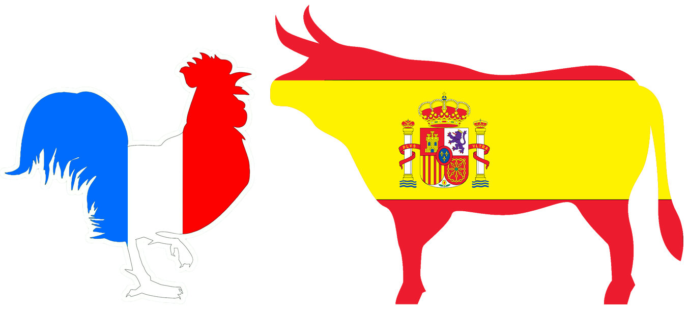 France and Spain icons
