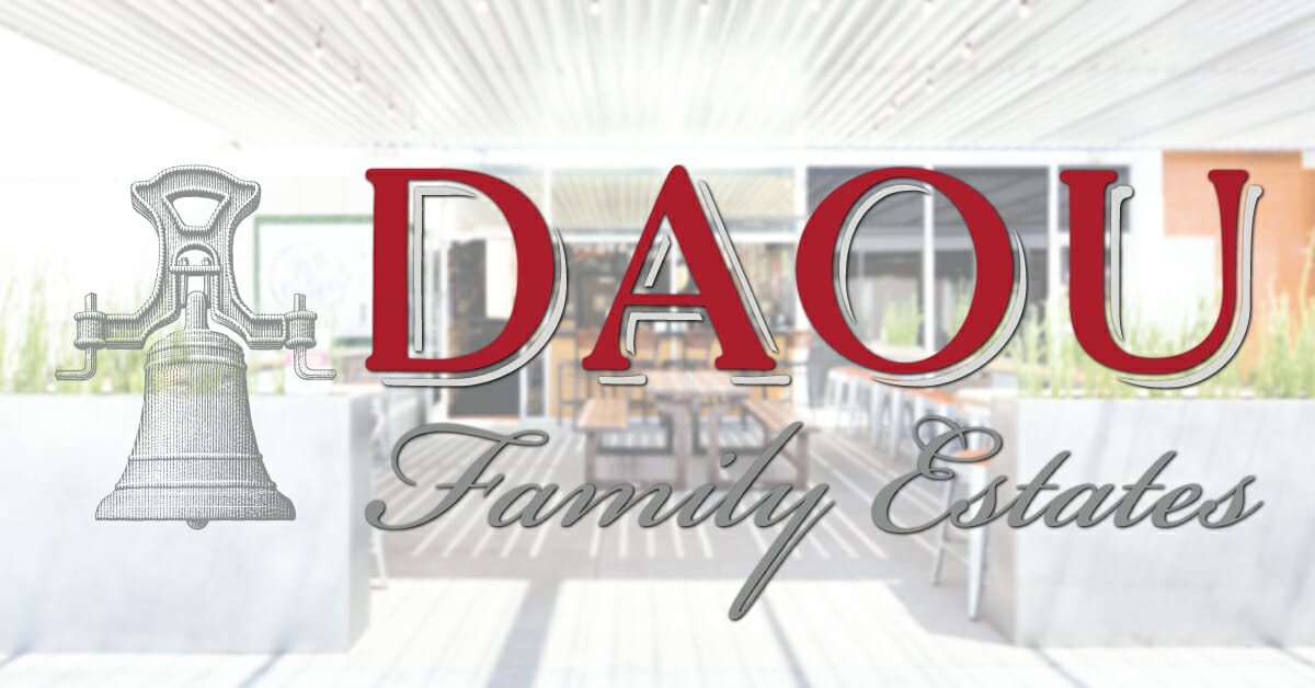 DAOU Family Vineyards wine tasting on the patio