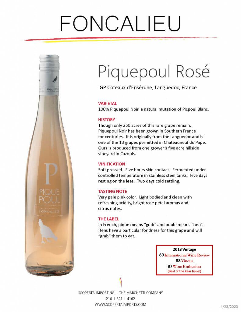 Foncalieu Piquepoul-Rosé