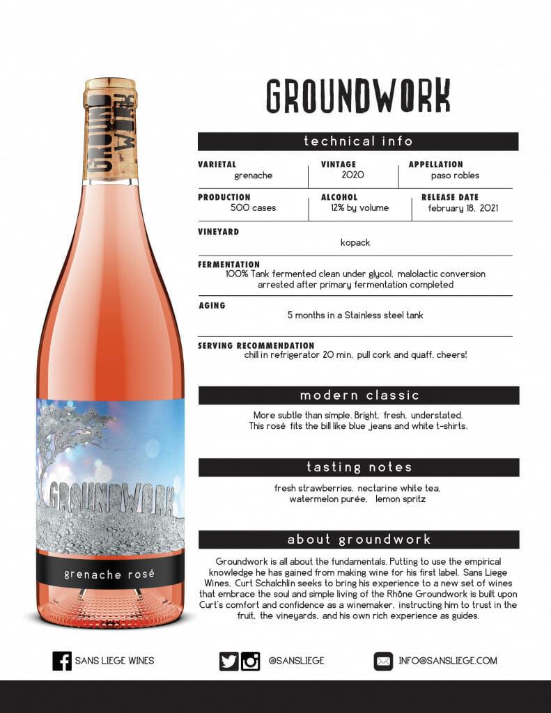 GroundWork Grenache Rose